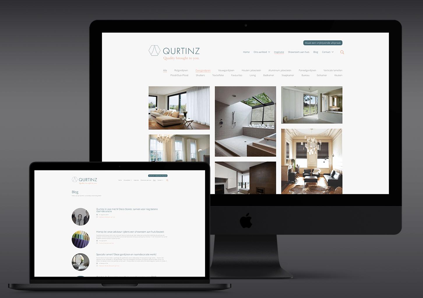 Visualisatie website Qurtinz