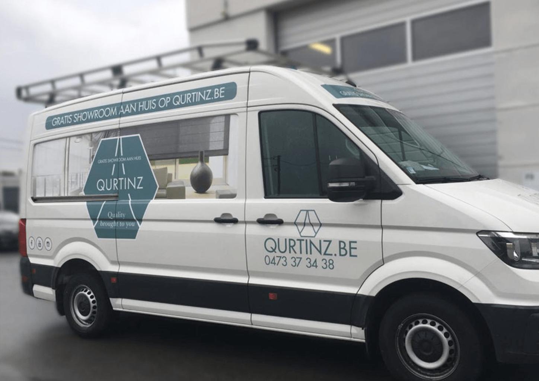 Belettering Qurtinz bestelwagen