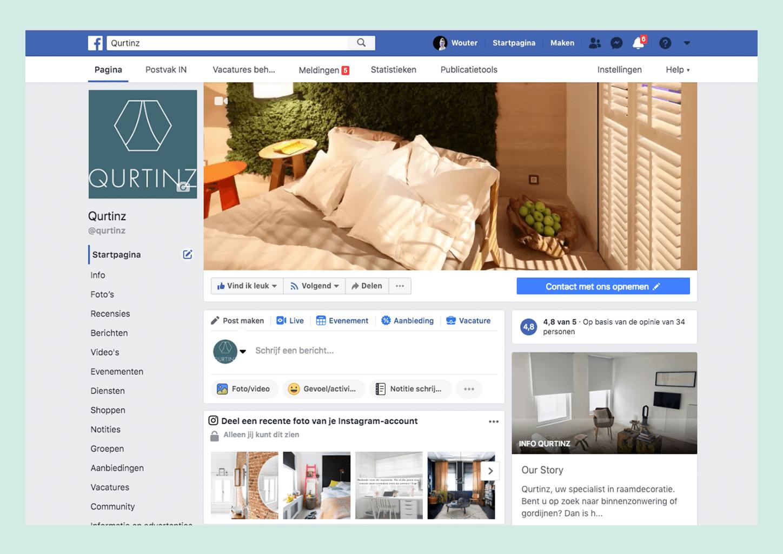 Screenshot Facebook account Qurtinz