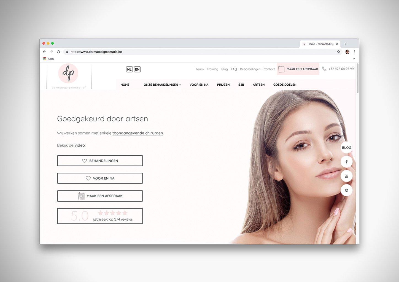 Website dermatopigmenatie.be