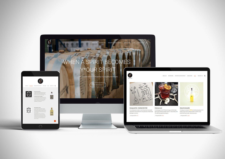 Responsive website spiritsbydesign.be