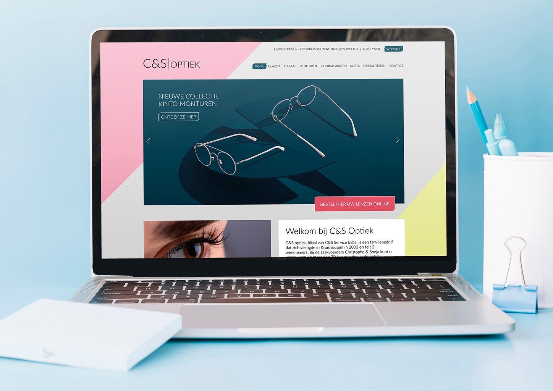 Responsive website C&S Optiek door Ozalith